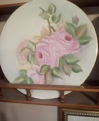 white and pink floral ceramic plate San Marcos, 92069