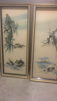 two gray falls and trees framed paintings Ellicott City, 21043