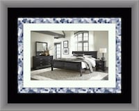 11pc Black Marley bedroom set free delivery  Gaithersburg