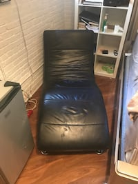 black leather padded sofa chair New York, 11206