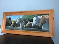 brown wooden framed painting of horse Oakville, L6L
