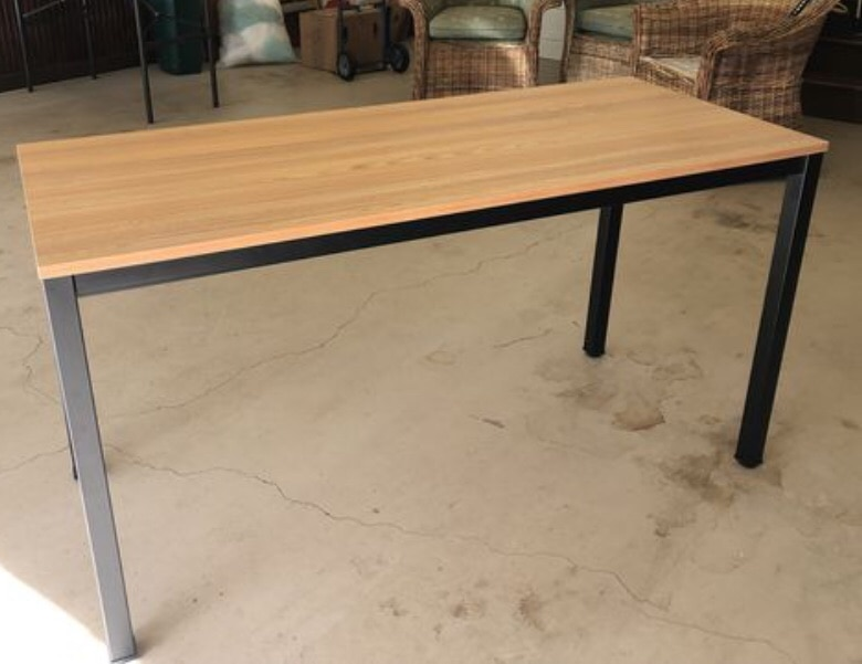 Beau Solid And Sturdy Desk Or Table. 55u201d Long By 24u201d Wide. Metal