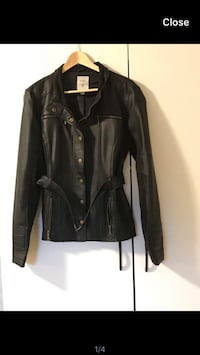 Black Guess Faux Leather Jacket