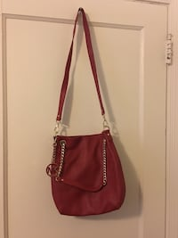 women's red leather sling bag Takoma Park, 20912