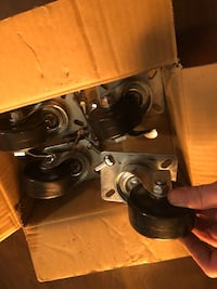 Heavy duty rubber wheels for slot of things their brand new  Bowmanville, L1C 1V6