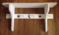 Pottery barn kids moon and star shelf with pegs