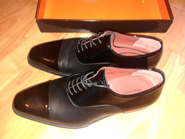 Used Pair Of Black Italian Leather Dress Shoes For Sale In Bronx Letgo