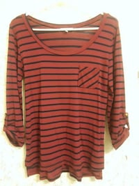 Red & blue striped 3/4 sleeved shirt Racine, 53405