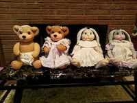 Ceramic rabbits or bear,clothed,your choice 925 mi