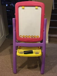 Kids Easel Magnetic Dry Erase and Chalkboard