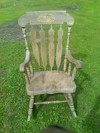 gray and brown wooden armchair Surrey, V3W 3H3