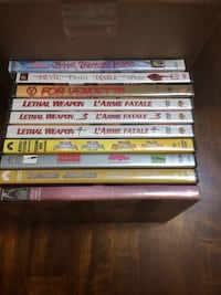 Assortments of movies on DVD