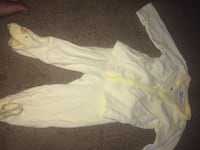 baby's white and yellow jacket and pajama set Hazel Green, 35750