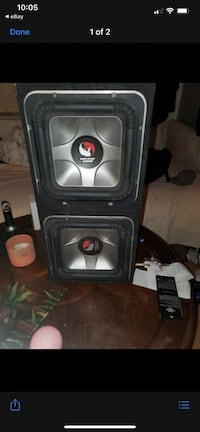 Kicker L7's solobaric speakers with box