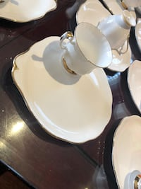 England Royal Albert/Queen Anne tea cups and special plates. $20 each set( 2 pcs)