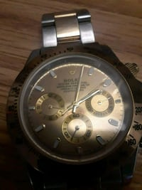 round silver-colored chronograph watch with link bracelet Phoenix, 85051