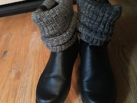 pair of black leather boots Calgary, T2B 1R4