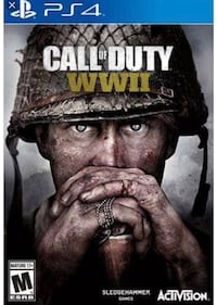 COD WWII PS4 game case