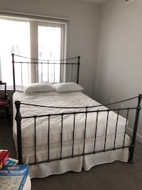 Queen bed with mattress and box spring Falls Church