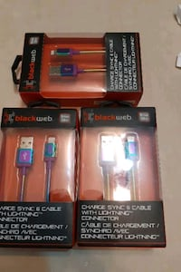 I phone charger black web 10 each together 25