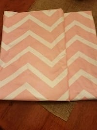 Pink & White Chevron Curtains Spring Grove, 17362