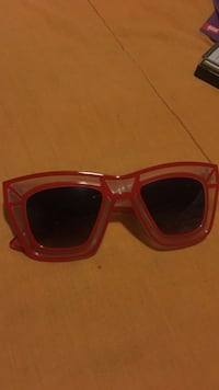 Red frame sunglasses