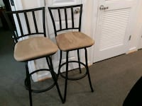 2 Counter Height bar stools. Black in color with stain resistant seat Alexandria, 22306