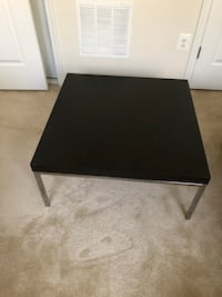 Black coffee table with metal base Clarksburg, 20871