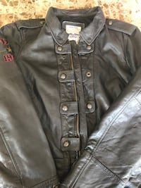 Black leather button-up jacket Vaughan, L4H 1Y9