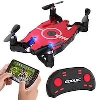 Brand new GoolRC T49 FPV Drone with WiFi Camera Live Video 2.4G 4 Channel 6 Axi Auto Foldable Arm Altitude Hold RC Quadcopter, only $30.00 costs over $50.00 on Amazon.  GESTURE REMOTE CONTROL-First of all, unlike the other Remote Controller, it looks like Meridian