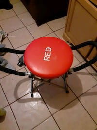 Red x fitness chair,