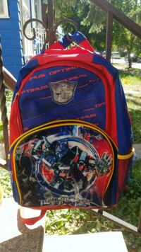 blue and red Spider-Man backpack Winnipeg
