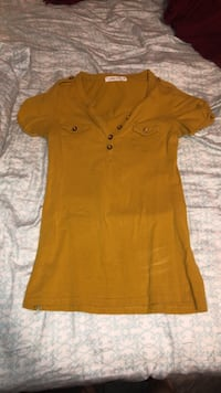 Yellow Form Fitting Shirt