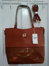 women's brown MK leather tote bag Hartford, 06114