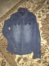 Blaue Jeans-Button-Up-Jacke 6410 km