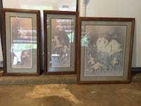 three brown wooden framed paintings Amarillo, 79121