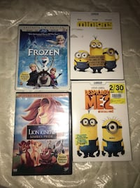 four assorted-title DVD cases Toronto, M1G