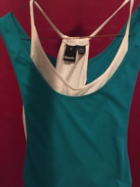 women's blue and white tank top Calgary, T3K 6A9
