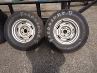 GM 15 inch rally rims with slicks Drexel Hill, 19026