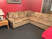 Sectional Couch (tan fabric) 244 mi