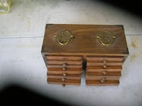 Set of 12 coasters in their wood Holder Springfield