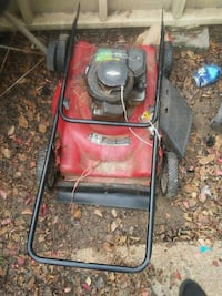 red and black Craftsman push mower Jackson