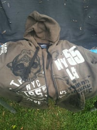two black and gray zip-up hoodies Welland, L3B