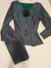 Two tone silk outfit size S 3723 km
