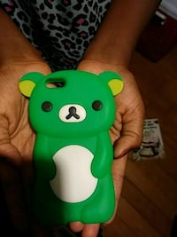 green and white owl iPhone case Portal, 30450