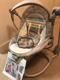 baby's gray and white swing chair Lincolnia, 22312