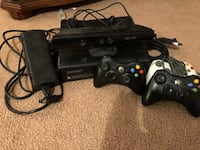 Black xbox 360 console with 2 working controllers 3rd one is missing its back: this deal does include the games and the kinect