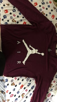 Air Jordan maroon and white long sleeve Barrie, L4N 7Y3