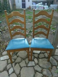 2 ladder back chairs