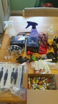 2 Rotary tat guns and power supply and pedal plus Lakeland